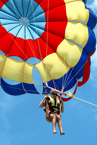 For views of Maui, try parasailing. It's great for the whole family and you can do it tandem or triple.