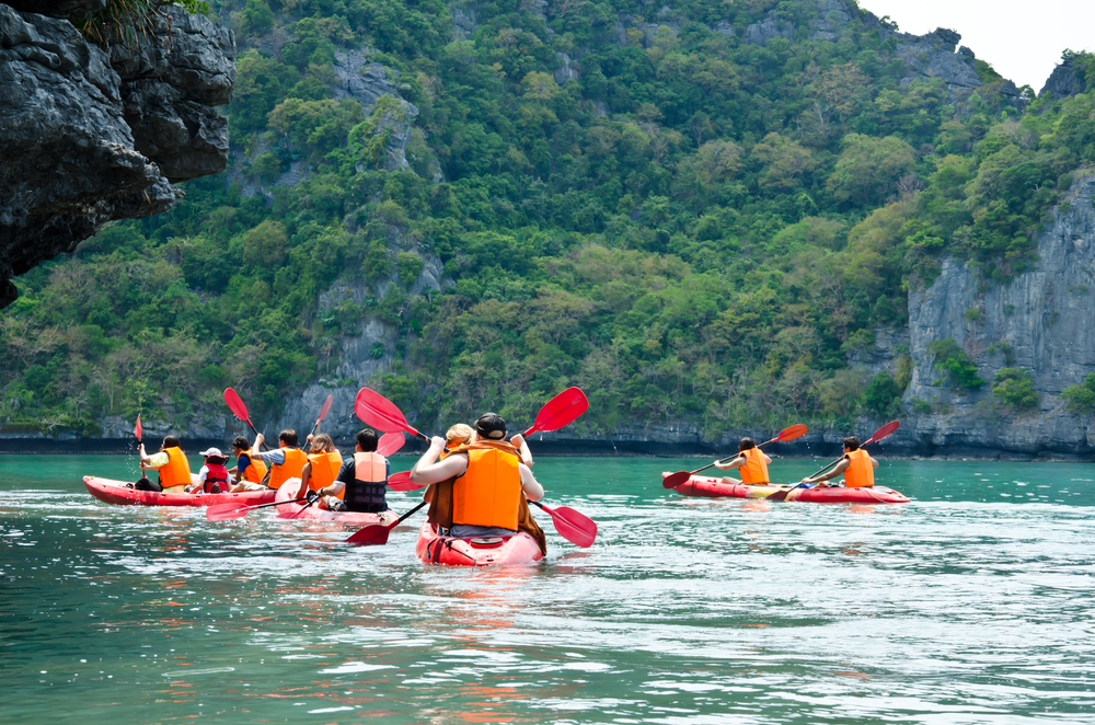 Mu Ko Ang Thong National Park in Koh Samui is a great place to explore via kayak.
