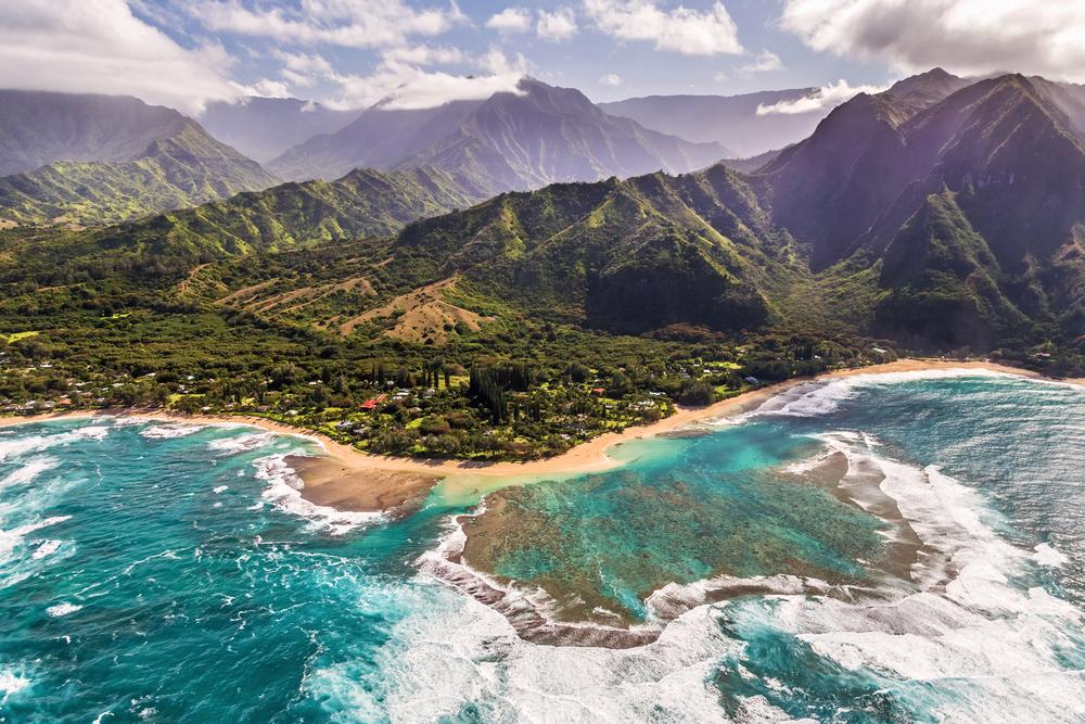 A helicopter tour is a great way to discover Kauai's mountainous terrain and secluded beaches.