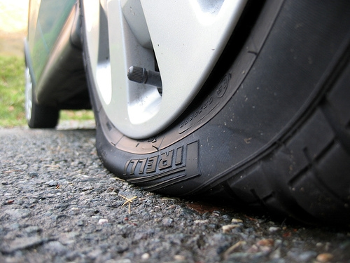 Flat tyres and other issues are common in PNG due to rough driving conditions.